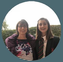 Georgina and daughter Katie